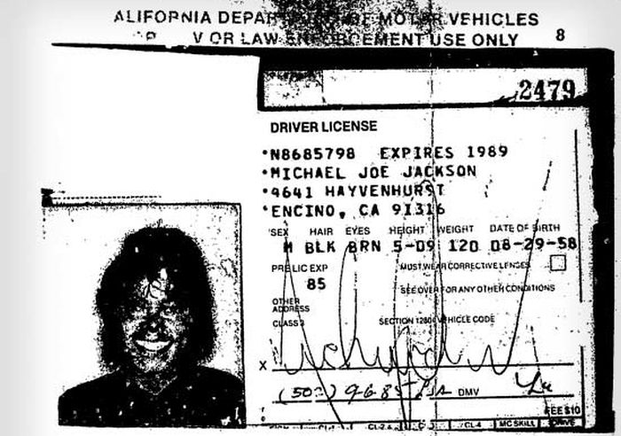 ¿Cuánto mide Michael Jackson? - Altura - Real height Michael-jacksons-final-drivers-license-1