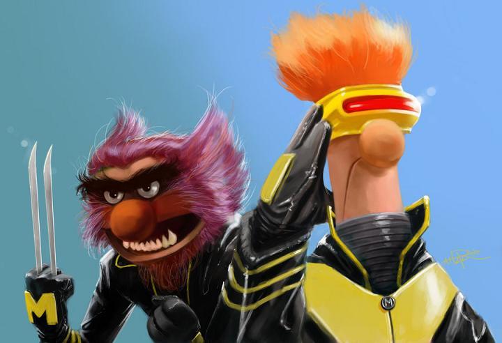 Fan Art X-Muppets-by-Rahzzah