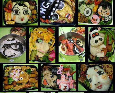 مطعم ياباني يتفنن في آأطباق الأرز ويصنع الأشكال بالصور 4_26