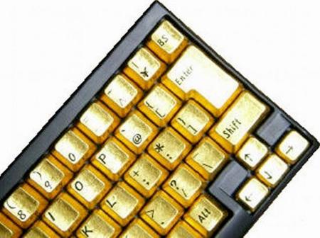 لوحة مفاتيح من الذهب الخالص 10_6