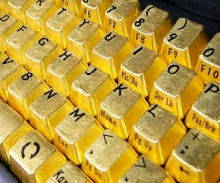 لوحة مفاتيح من الذهب الخالص 13_6