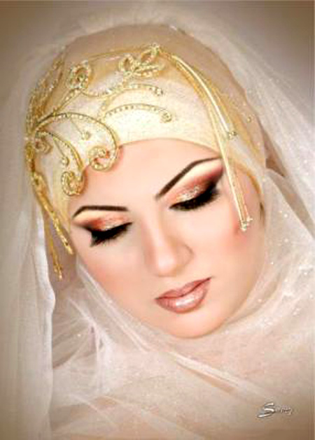 اجمل مكياج للعروس المحجبة 7_17