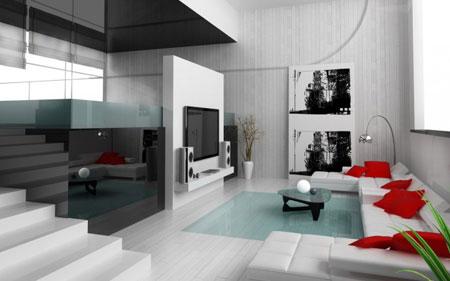 صور ديكور احمر وابيض Living-room-designs-22-630x