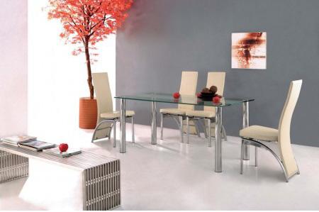 غرف طعام مصنوعة من الزجاج , ستايلات جميلة Trevero-table-verre-chaises