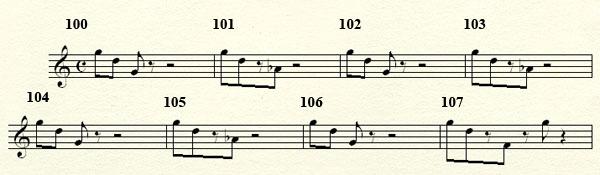 [Théorie Musicale]-Analyse de ma compo Freddy's Trance Mesures100a108