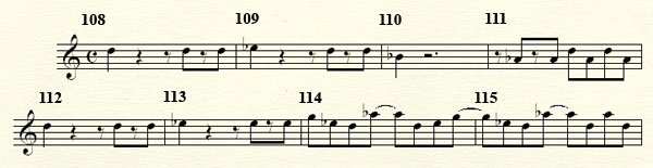 [Théorie Musicale]-Analyse de ma compo Freddy's Trance Mesures108a116