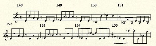[Théorie Musicale]-Analyse de ma compo Freddy's Trance Mesures148a156