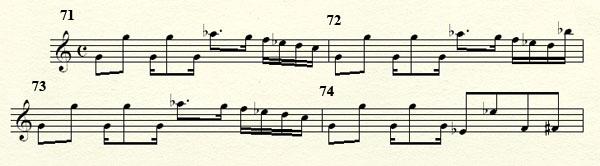 [Théorie Musicale]-Analyse de ma compo Freddy's Trance Mesures71a75