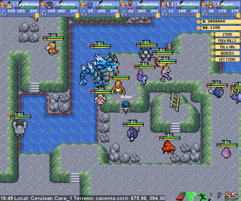Pokemon Sekai! MMORPG com batalhas em tempo real! Print1