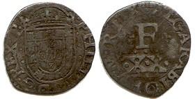 1 Vintem de Felipe III ( II de Portugal ), Lisboa ( 1598 - 1621 ). 791195