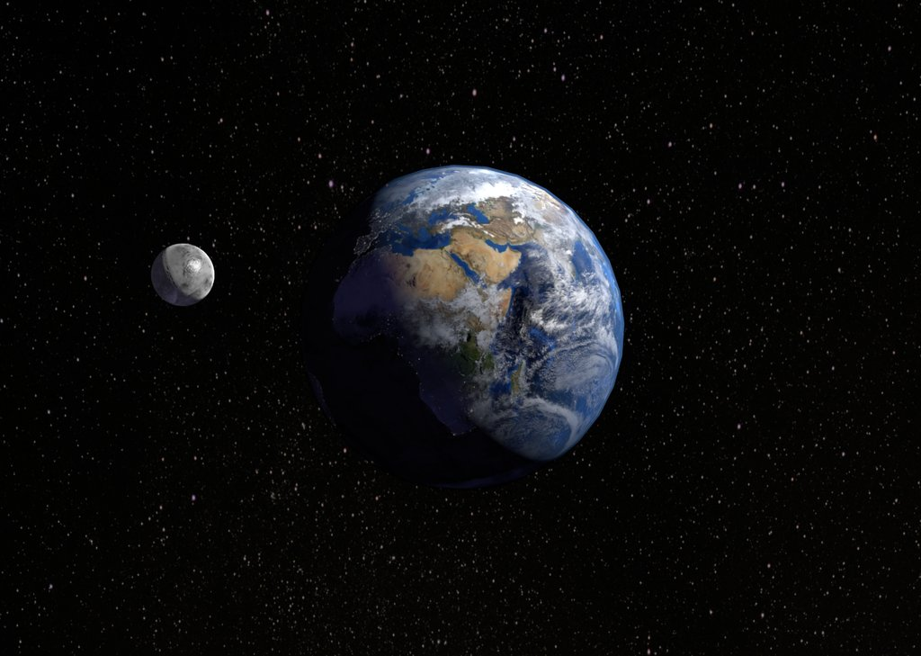 Звёздное небо и космос в картинках - Страница 2 Earth_and_moon_by_zaelkrie-d5ig99b