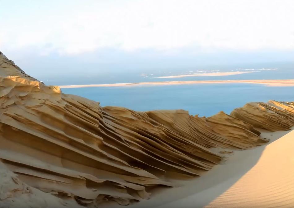 C'est de toute beauté : sites et lieux magnifiques de notre monde. Dune-pilat-froid-vent-sculptures-florian-clement-2