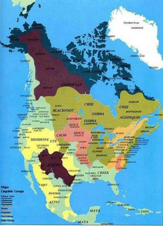 Cette carte des tribus indiennes est absente des livres d'histoire ! Par Raphaëlle Dormieu Carte-etats-unis-indiens-amerique-3