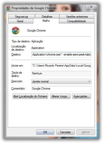 Activar Pré-visualização separadores do Google Chrome Imagem_chrome_aero_peak03_small
