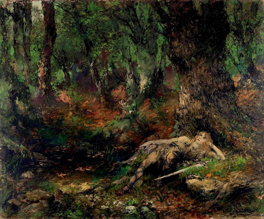 La niña cerillera. The-young-siegfried-in-the-forest-ferdinand-leeke