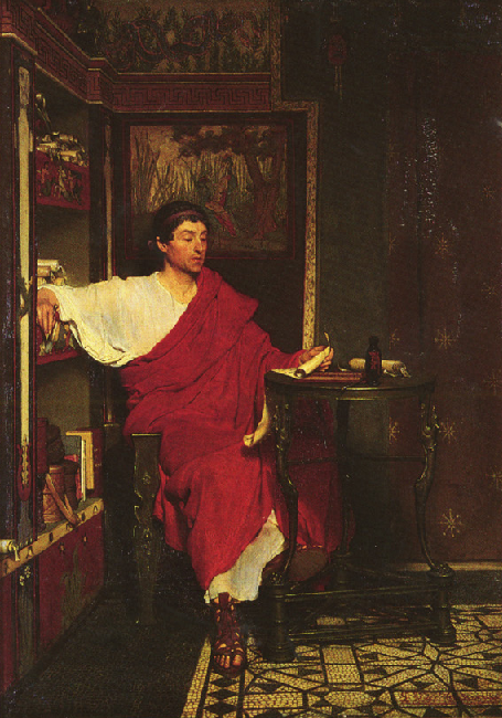 LE MUSEE DU FORUM Alma-Tadema-RomanScribe