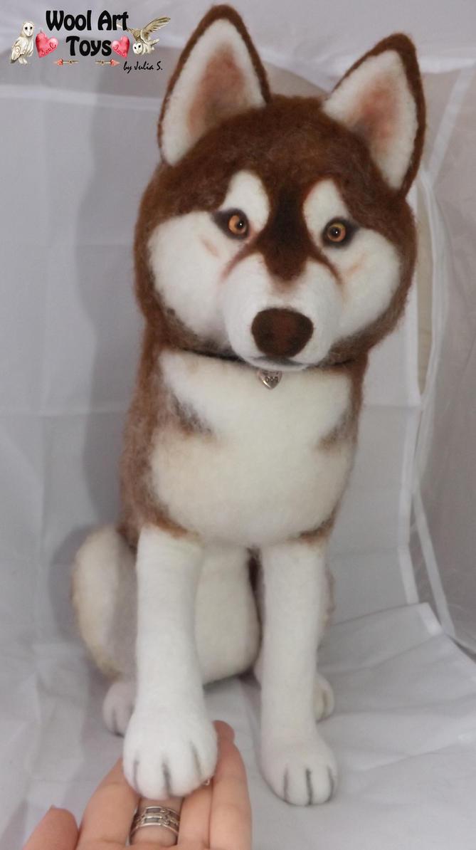 Miniature Sculpture of your dog. Needle Felted Dog  - Page 2 Eldur___needle_felted_siberian_husky_by_woolarttoys-d9gez9i
