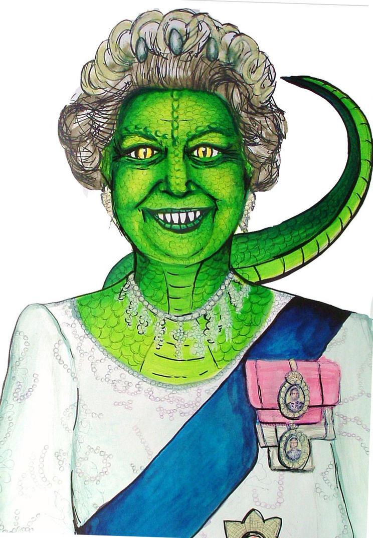 Queen Elizabeth Is Dead? again  The_queen_in_reptilian_form_by_zucchinii
