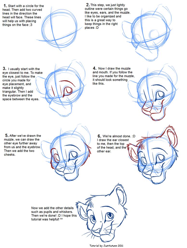 Los dibujos de Rey Simba Hakuna Matata  - Página 2 How_to_draw__head_tutorial_by_justautumn-d47l7wn