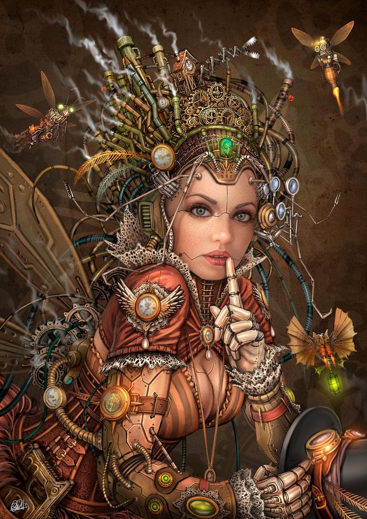 Bienvenidos al nuevo foro de apoyo a Noe #277 / 30.07.15 ~ 05.08.15 - Página 40 Silence_please___steampunk_fairy_by_darkakelarre-d7sechn