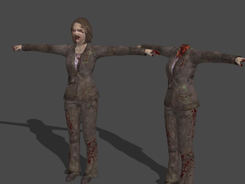 Variados mods (enemigos y armas) Umbrella_corps___zombie_business_woman_orig_bones_by_oo_fil_oo-da7krkj