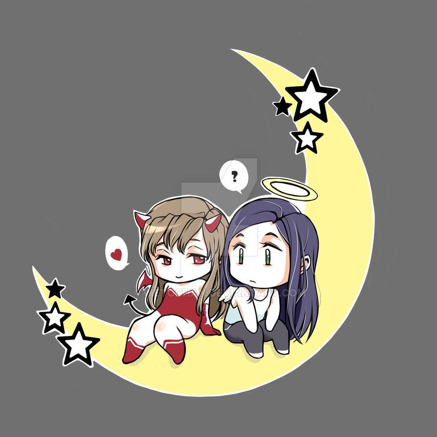 Post Shizuru and Natsuki [ShizNat] fanart, images, EVERYTHING! - Page 32 Devil_and_angel_by_wetochan-d95sfv1
