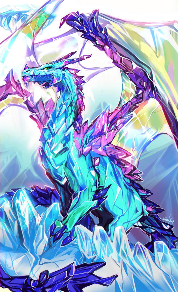 A la caza de los emergidos [Campaña de liberación][Cynthia] Crystal_dragon_by_enijoi-d5z49qn