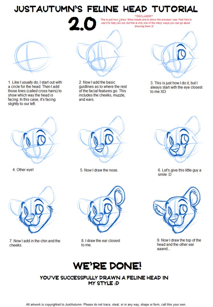 Los dibujos de Rey Simba Hakuna Matata  - Página 2 Feline_head_tutorial_2_0_by_justautumn-d6jvfox
