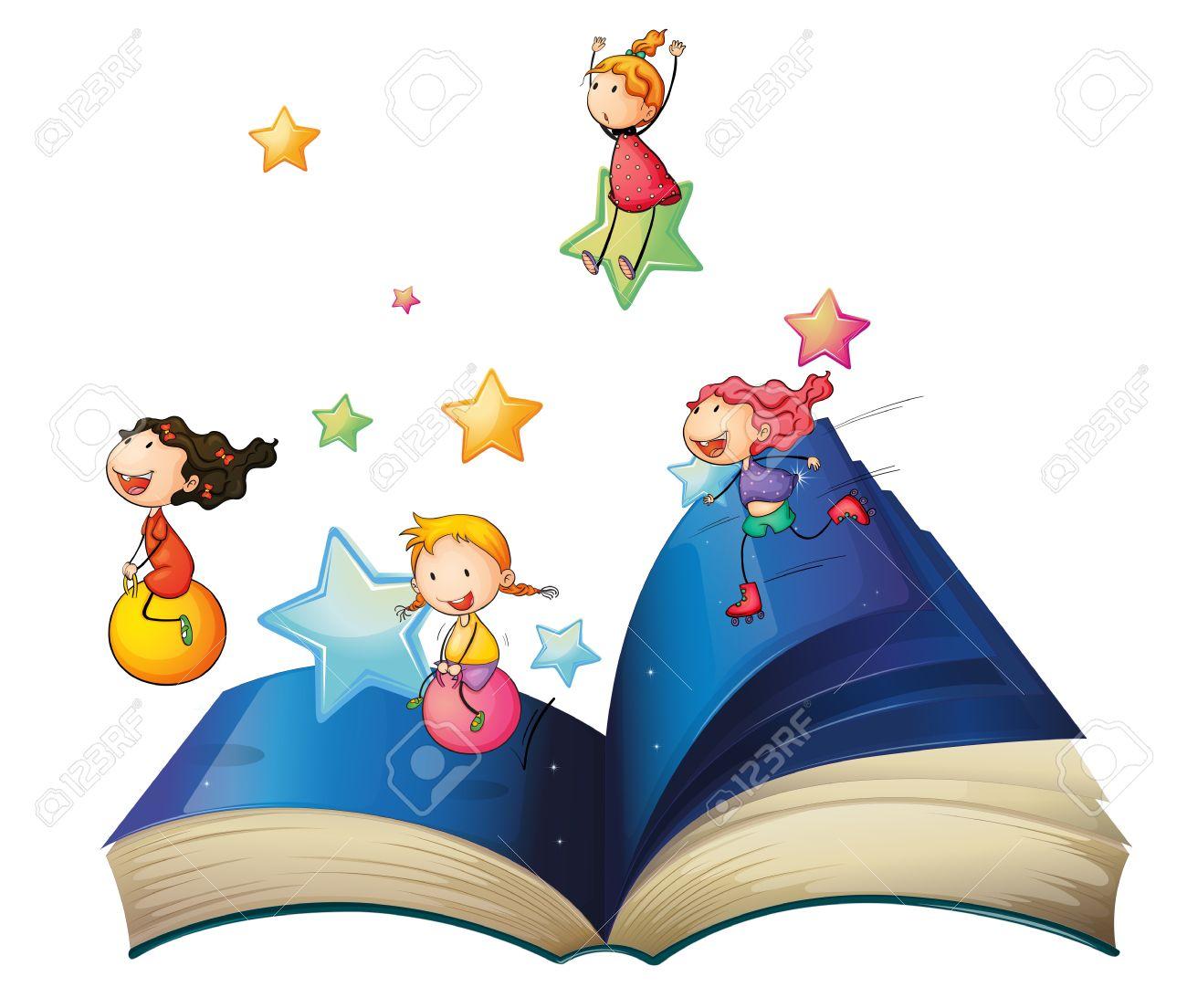 Bienvenidos al nuevo foro de apoyo a Noe #238 / 24.03.15 ~ 27.03.15 20272881-Illustration-of-a-book-with-children-playing-on-a-white-background-Stock-Vector