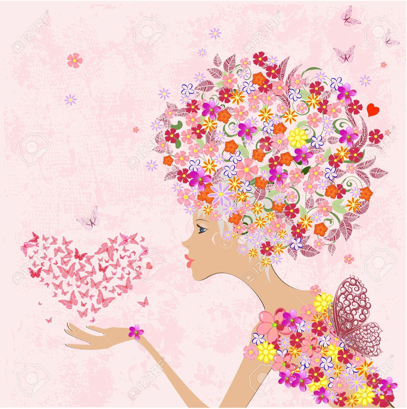 LA PRIMAVERA LLEGO¡!! - Página 2 16787686-fashion-flowers-girl-with-a-heart-of-butterflies-woman-face-drawing