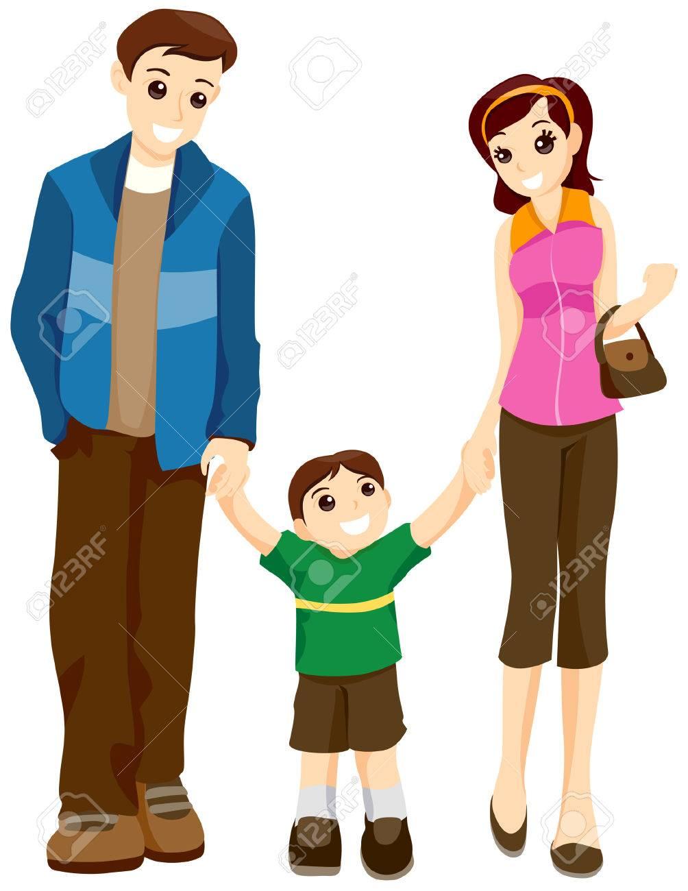 ME QUIERES CONTAR UN CUENTO?? 3902755-Caminar-con-los-padres-de-ni-os-con-limitaci-n-Ruta-Foto-de-archivo