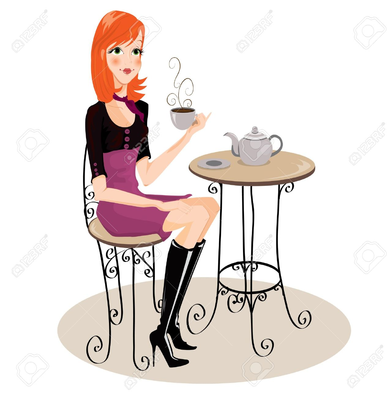 Tardes charla, musica y cafe 7747721-ni-a-bebiendo-caf--Foto-de-archivo