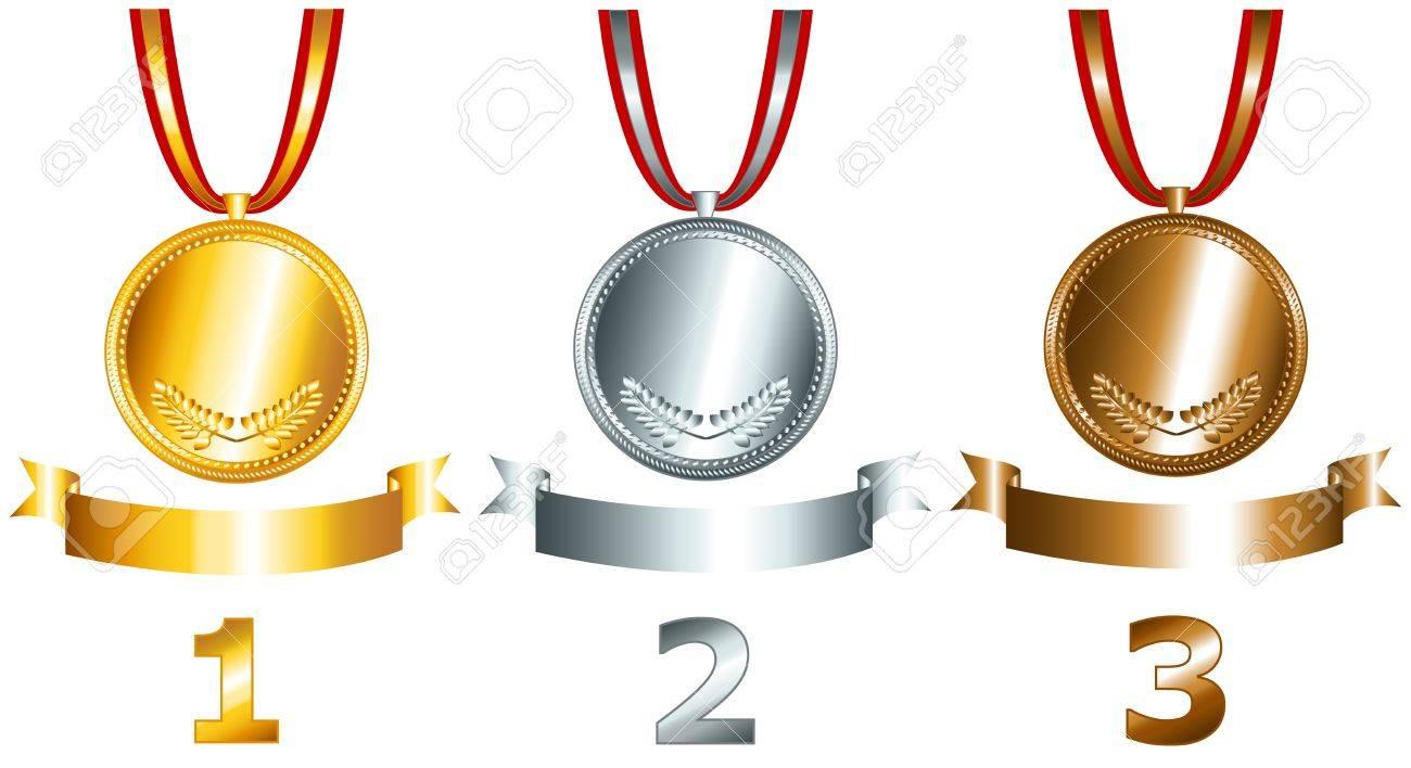 Olimpiadi a Rio 12956025-Di-sport-e-dei-Giochi-simili-oggetti-con-medaglie-d-oro-d-argento-e-di-bronzo-nastri-e-numeri-di-pos-Archivio-Fotografico
