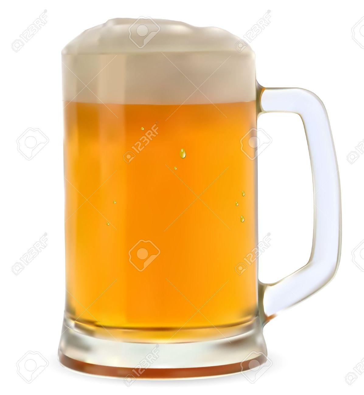 Che cos'hai pappato di buono oggi? I nostri menu - Pagina 9 13738968-Mug-of-beer-on-a-white-background--Stock-Vector-glass