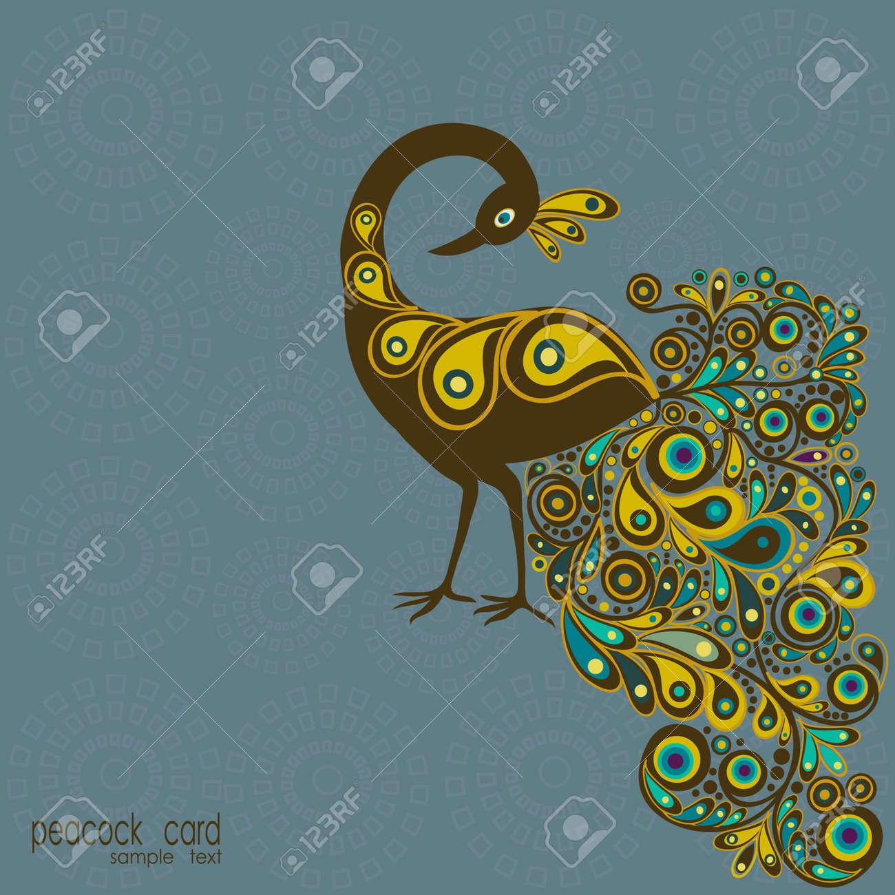 صور الطاوس فلاشية  15995721-Peacock-Stock-Vector-peacock-illustration-pattern