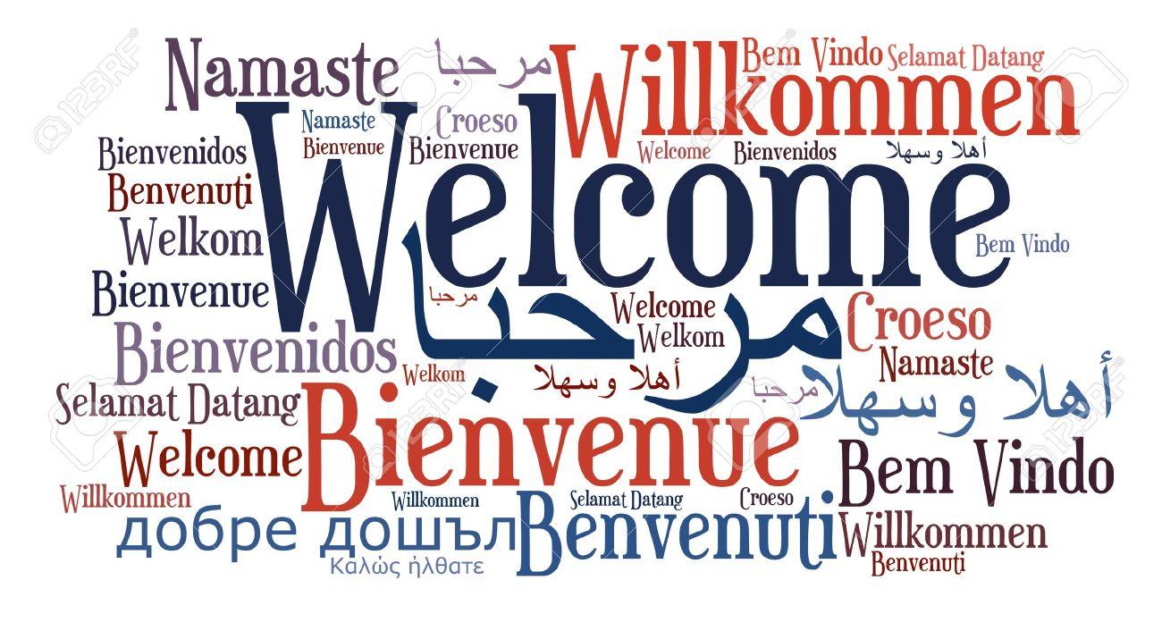 PRESENTACION DESDE COLOMBIA JOURNEY SE 2.4 16355654-Bienvenido-frase-en-diferentes-idiomas-Palabras-concepto-de-nube--Foto-de-archivo