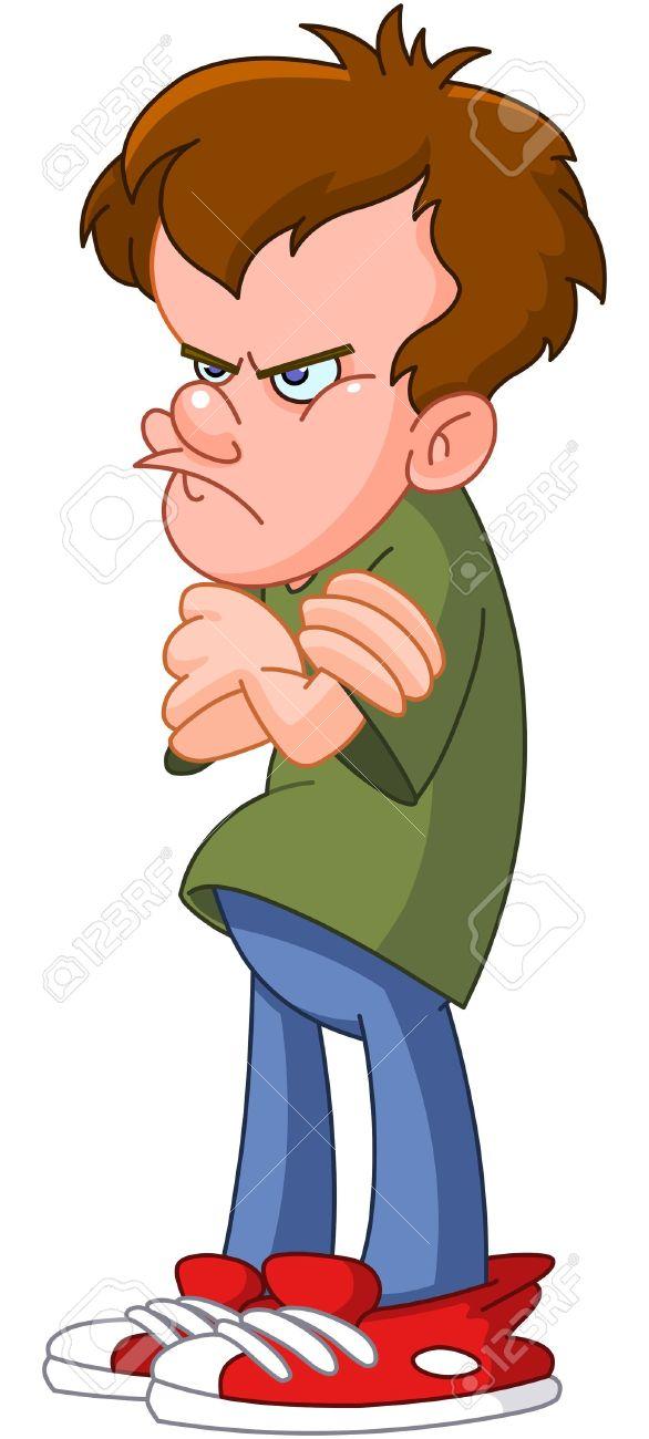 Ako ma to štve... !!! - Stránka 3 10389435-Angry-teenager-Stock-Vector-angry-cartoon-boy