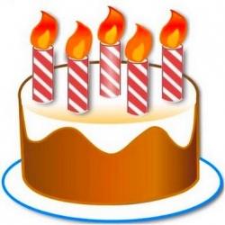 Приветствия к Дню рождения в стихотворной форме и не только. 377__250x250_pozdravlenie-5-let-i-5-svechek