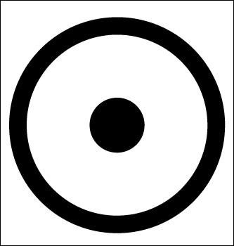 Symbole du soleil - Le point au centre du cercle 5544