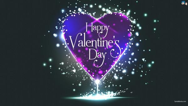 XOX Happy Valentines DAY XOX Valentine-Day-Purple-Heart-Wallpaper