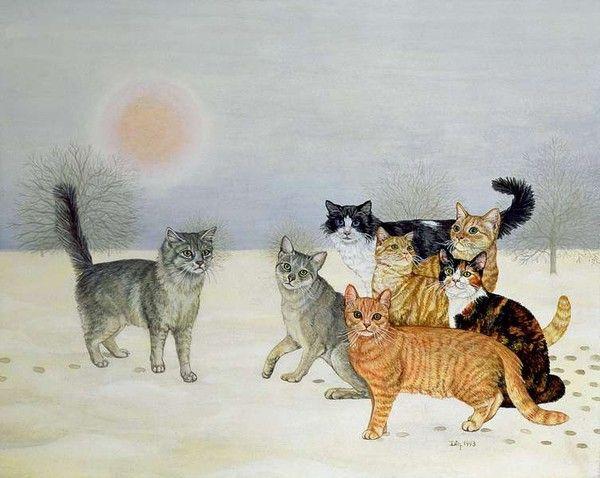 a voir   chats en  peinture Df17a3fe