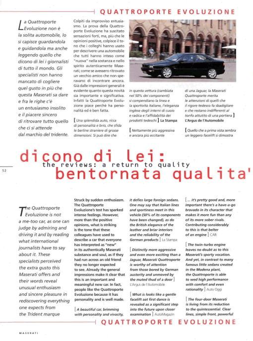 Maserati Quattroporte IV......brutto anatroccolo! Rivista_Sept_1998-3