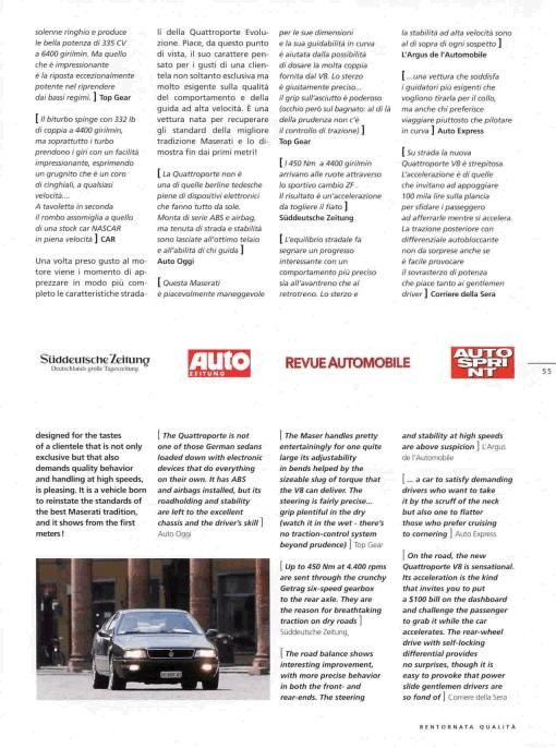Maserati Quattroporte IV......brutto anatroccolo! Rivista_Sept_1998-6