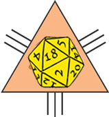 Logotipo Ojo al dado Oad-dios