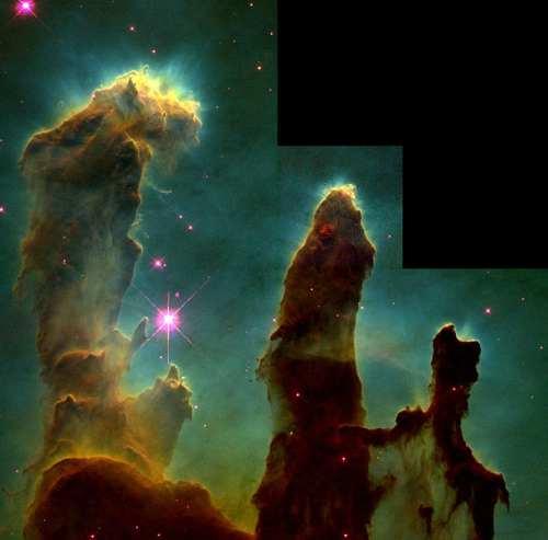 تجليات ملكوت السماء ..من خلال تلسكوب هابل 607px-Eagle_nebula_pillars