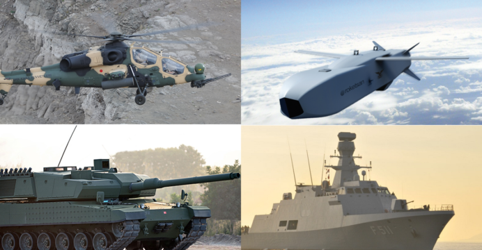 """التعاون العسكري الباكستاني & التركي """"صفقات وبرامج عسكرية متطورة مشتركة"""" Turkey-Pakistan-T-129-MILGEM-SOM-Altay-692x360"""