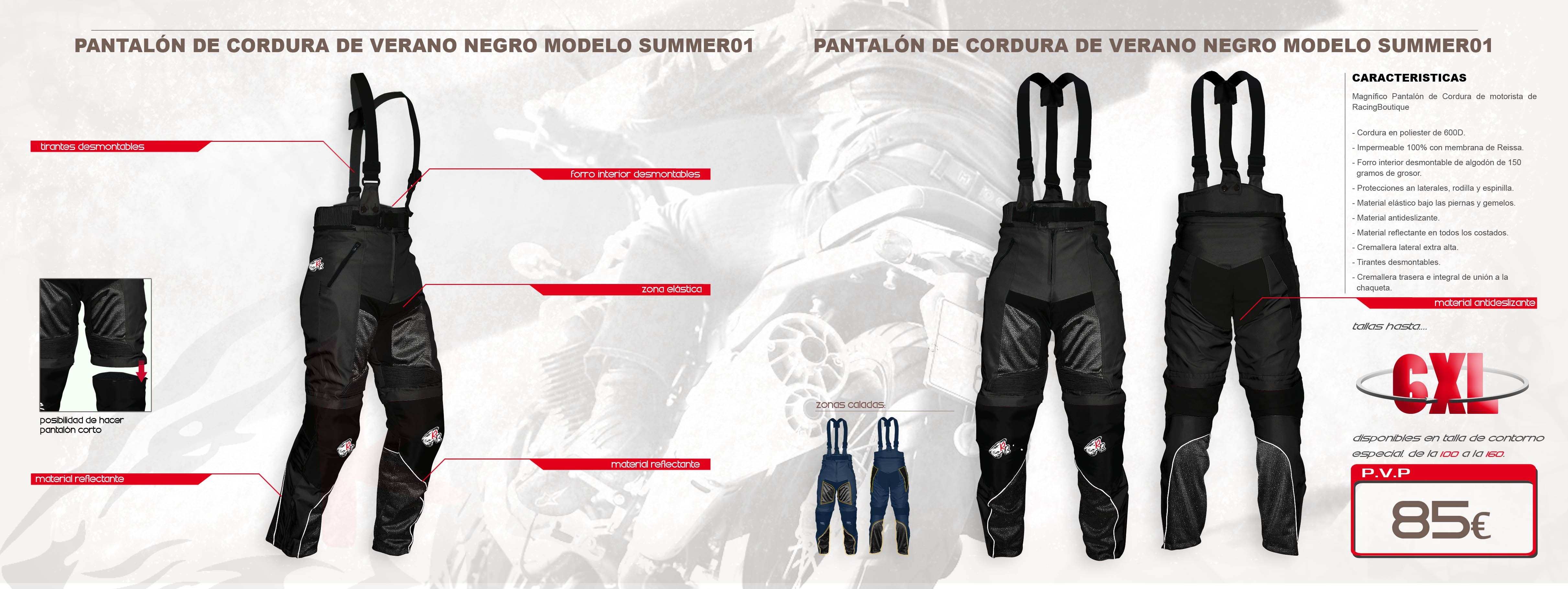 Pantalones de verano SummerNegro