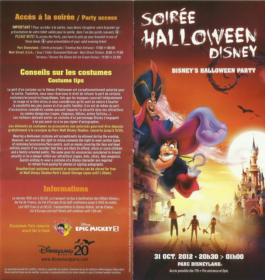 HALLOWEEN 2012 DU 1ER OCTOBRE  AU 4 NOVEMBRE 2012 - Page 12 Programme-Disney-Halloween2