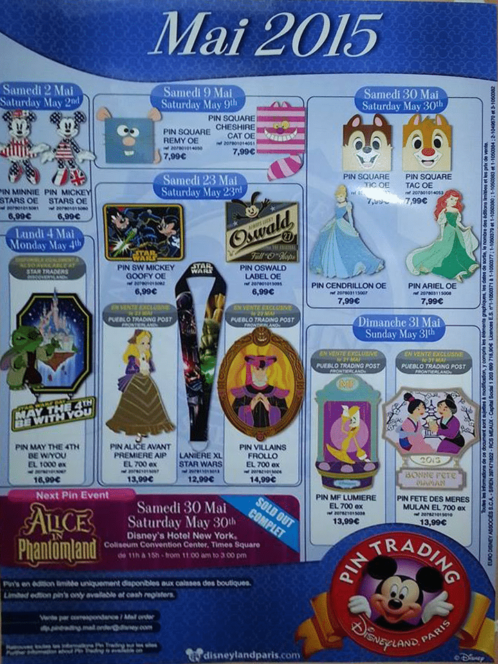 Pins Disney Pin-Trading_Disneyland-Paris-Mai-2015