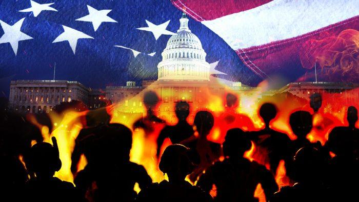Майк Адамс - РАСКРЫТО «СЕКРЕТНОЕ ОРУЖИЕ» ТРАМПА Riot-Mob-America-Washington-700x394